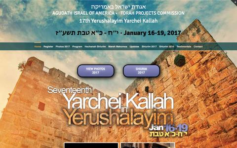 Screenshot of Home Page aiayk.org - Agudath Israel Of America 16th Annual Yarchei Kallah - captured Jan. 25, 2017