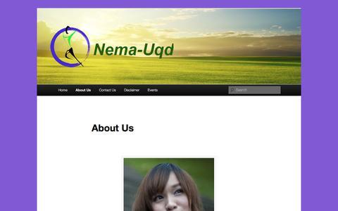 Screenshot of About Page nema-uqd.info - About Us - Nema-uqdNema-uqd - captured Oct. 20, 2017