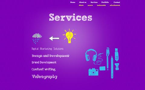 Screenshot of Services Page cetattii.com - Web Design | Web Development | web design and development company | - Cetattii - - captured Oct. 3, 2014