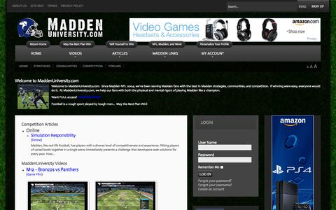 Screenshot of Site Map Page maddenuniversity.com - MaddenUniversity.com - Site Map - captured Sept. 30, 2014