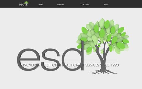 Screenshot of Home Page esdontheweb.com - ESD | IT Consulting, Rooted in Healthcare - captured April 16, 2018