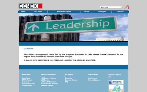 Screenshot of Team Page donex.in - Donex Industries Ltd., led, led downlighters, led streetlights, led tv, lcd tv, led glowsigns, led products, embedded system, electronic management system, ems - captured Feb. 9, 2016