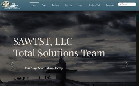 Screenshot of Home Page sawtst.com - SAWTST, LLC - captured March 21, 2019