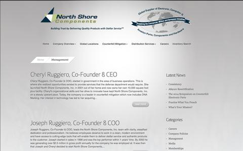 Screenshot of Team Page nscomponents.com - Management Archives - North Shore Components, Inc. - captured Oct. 26, 2014