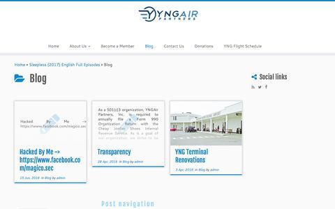Screenshot of Blog yngairpartners.org - Blog – YNGAir Partners, Inc. - captured May 26, 2017