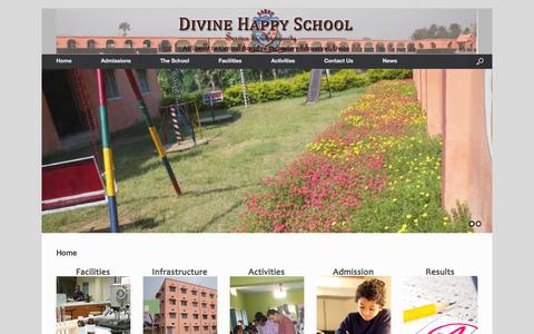 Screenshot of Home Page dhsbgp.com - Divine Happy School | Divine Happy School, Bhagalpur - captured Oct. 1, 2014