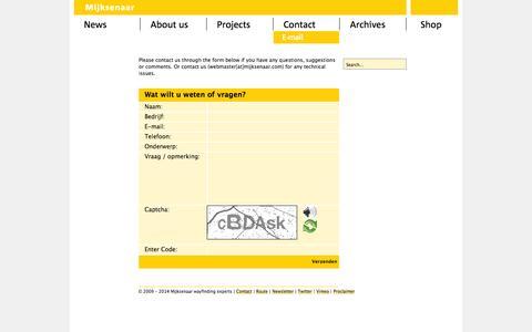 Screenshot of Contact Page mijksenaar.com - Mijksenaar wayfinding experts   Contact - captured Oct. 7, 2014