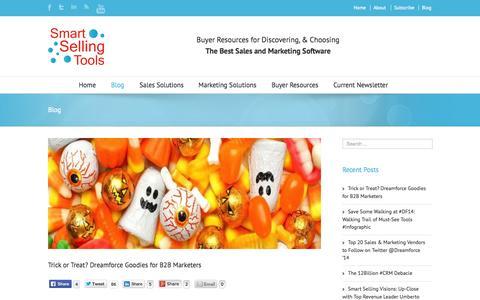 Screenshot of Blog smartsellingtools.com - Blog   Smart Selling Tools - captured Oct. 26, 2014