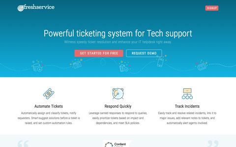 Screenshot Of Landing Page Freshservice.com   IT Helpdesk Ticketing |  Freshservice Service Desk