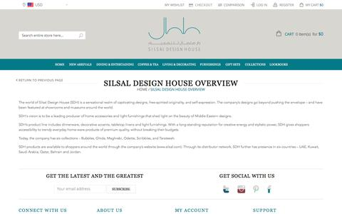 Screenshot of About Page silsal.com - SILSAL DESIGN HOUSE OVERVIEW - captured Feb. 4, 2016