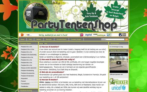 Screenshot of FAQ Page partytentenshop.nl - Veel Gestelde Vragen   Partytent Kopen   Partytenten - captured Sept. 30, 2014