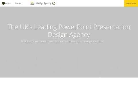 Screenshot of Home Page Privacy Page buffalo7.co.uk - PowerPoint Presentation Design Agency - captured Sept. 30, 2014