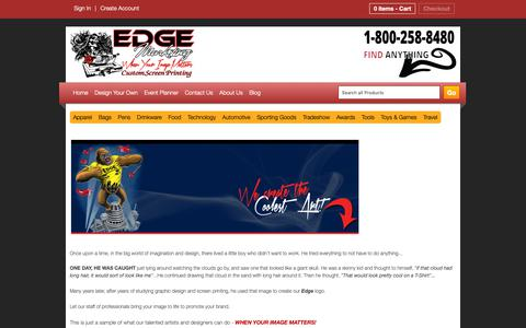 Screenshot of About Page edgemarkpromo.com - About Us - Edge Marketing & Promotions - captured Sept. 27, 2018