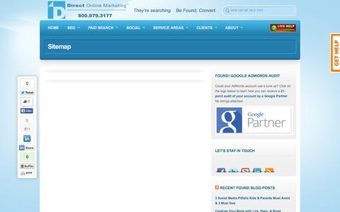 Screenshot of Site Map Page directom.com - Sitemap - captured Sept. 25, 2014