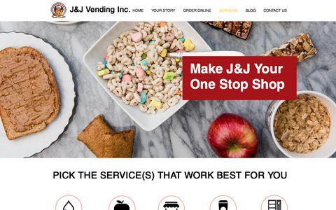 Screenshot of Services Page jandjvendinginc.com - J&J Vending Inc. - SF Bay Area Office Coffee & Vending Services - captured Sept. 29, 2017