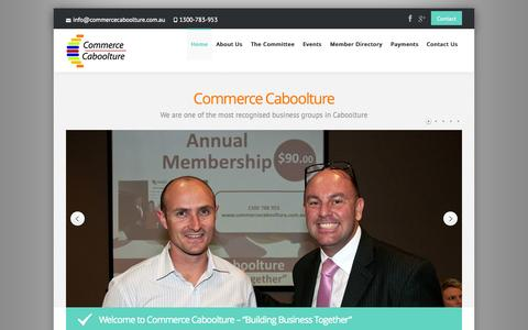 Screenshot of Home Page commercecaboolture.com.au - Commerce Caboolture - captured June 17, 2015