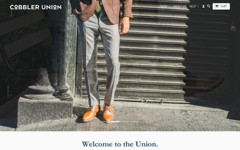 Screenshot of Home Page cobbler-union.com - Cobbler Union ( Bespoke-Inspired, Small-Batch, Luxury Men's Shoes) - captured Sept. 30, 2014