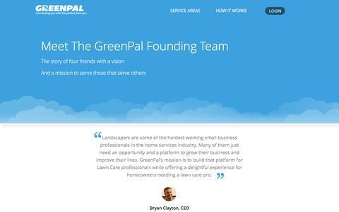 Screenshot of Team Page yourgreenpal.com - The GreenPal Team - captured Aug. 29, 2016