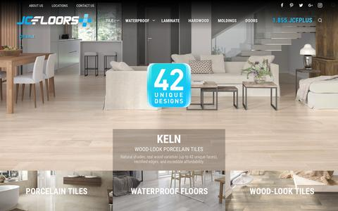 Screenshot of Home Page jcfloorsplus.com - Premium Flooring at Wholesale Prices in South Florida - captured Nov. 5, 2018