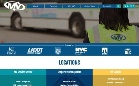 Screenshot of Locations Page mvtransit.com - Locations | MV Transportation - captured Oct. 1, 2018