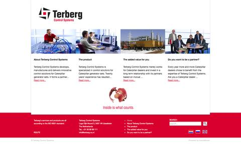Screenshot of terberg-control-systems.nl - Terberg Control Systems - Home - captured Oct. 12, 2014