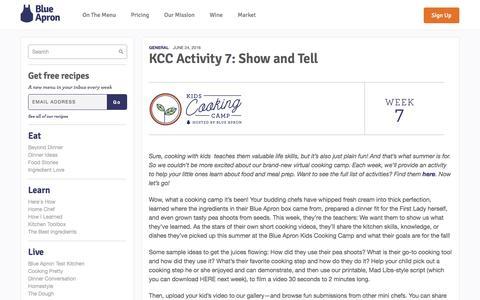 Screenshot of blueapron.com - KCC Activity 7: Show and Tell | Blue Apron Blog - captured June 25, 2016