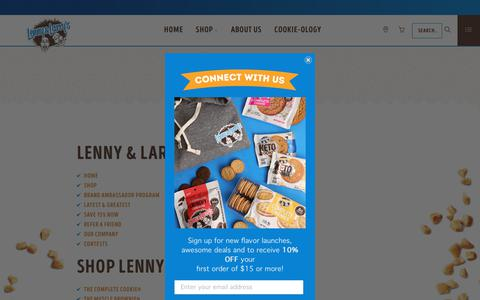 Screenshot of Site Map Page lennylarry.com - Official Lenny & Larry's Site - Sitemap - captured Jan. 21, 2020