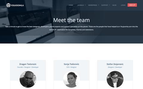 Screenshot of Team Page youjoomla.com - Meet the team - captured Oct. 2, 2015