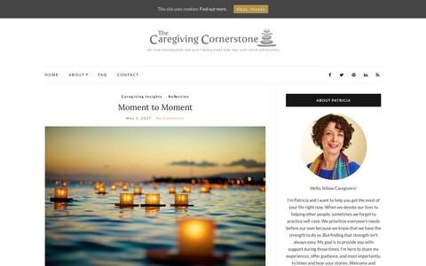 Screenshot of Home Page caregivingcornerstone.com - The Caregiving Cornerstone - - captured May 14, 2017