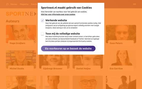 Screenshot of Team Page sportnext.nl - Auteurs overzicht | SPORTNEXT - De sportmarketing community - captured Nov. 5, 2018