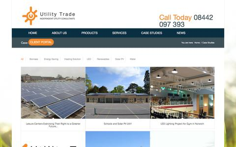 Screenshot of Case Studies Page utilitytrade.com - Utility Trade Case Studies | Examples of our work and savings - captured Oct. 25, 2017