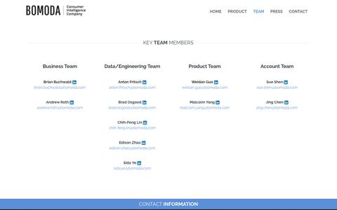 Screenshot of Team Page bomodagroup.com - Team   Bomoda: Consumer Intelligence Company - captured March 1, 2016