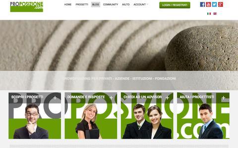 Screenshot of Blog proposizione.com - BLOG - PROPOSIZIONE.COM - captured Oct. 1, 2014