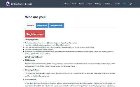 Screenshot of Signup Page ogsc.org - Register Now! - captured June 11, 2017