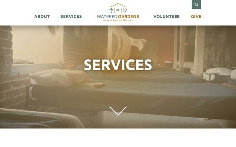 Screenshot of Services Page wateredgardens.org - Services - Watered Gardens - captured Nov. 15, 2018