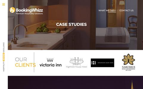 Screenshot of Case Studies Page bookingwhizz.com - BookingWhizz - captured Aug. 3, 2018