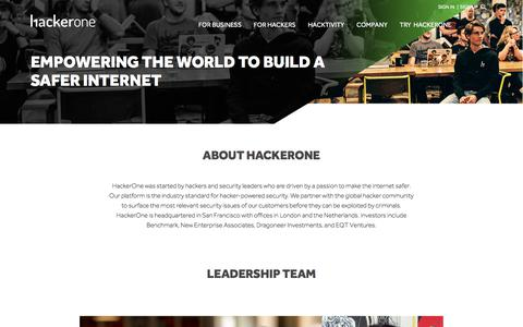 HackerOne: Building a Safer Internet Together with Helpful Hackers