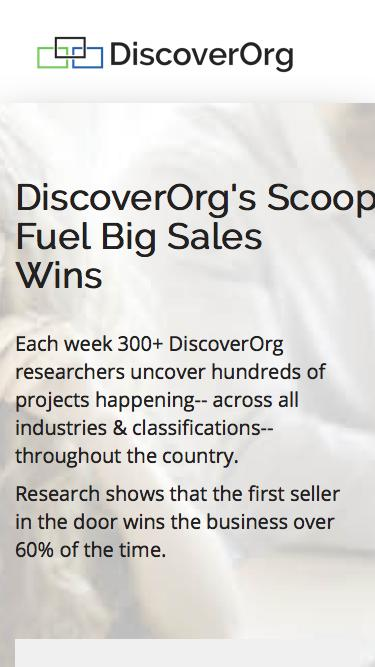 Real-Time Intelligence with Scoops from DiscoverOrg