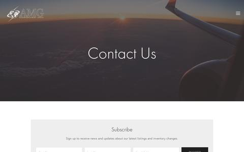 Screenshot of Contact Page aeromanagement.com - Contact Aeromanagement Group —    Aeromanagement Group - captured Oct. 3, 2018