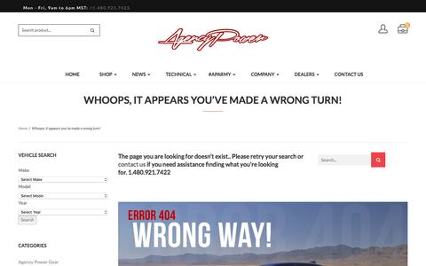 Screenshot of Team Page agency-power.com - Whoops, it appears you've made a wrong turn! – Agency Power - captured May 29, 2017