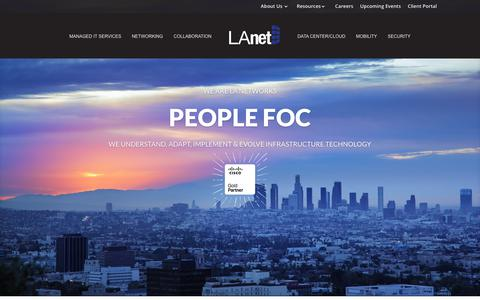 Screenshot of Home Page la-networks.com - IT Company Los Angeles | Computer Support LA | CISCO Solution LA - captured July 14, 2018