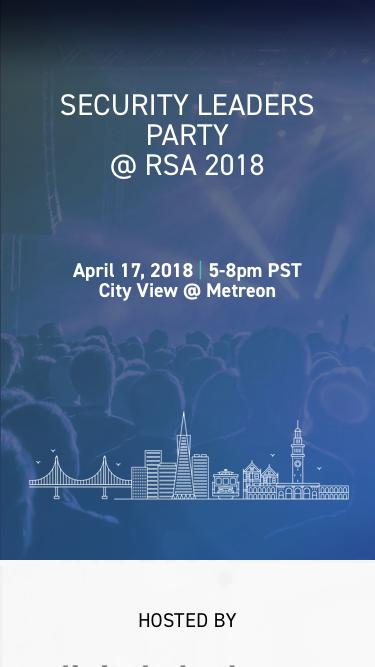 Security Leaders Party at RSA 2018