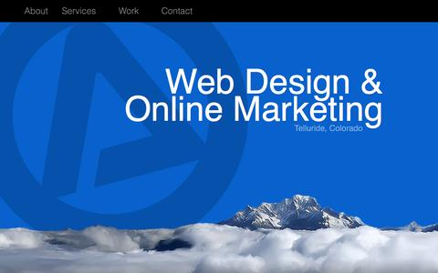 Screenshot of Home Page alpinewebs.com - Alpine Website Solutions | Professional Web Design / Search Engine Optimization (SEO) Services | Telluride, CO - captured June 19, 2015