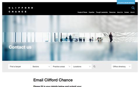 Clifford Chance | Contact us
