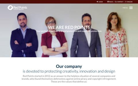 Screenshot of Team Page redpoints.com - Your preferred partner in brand protection and copyright protection   Red Points - captured Dec. 19, 2016