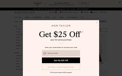 Women's Tall Jackets & Blazers: ANN TAYLOR