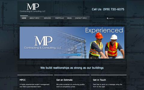 Screenshot of Home Page mpccllc.com - Martin Phillips Construct - captured Oct. 4, 2014