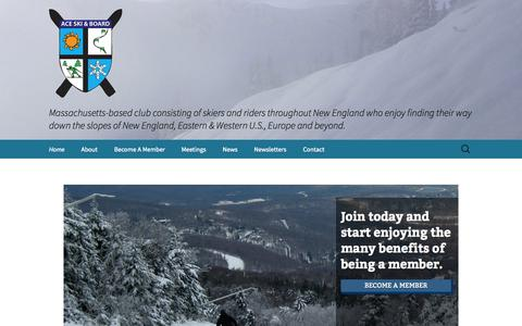 Screenshot of Home Page aceskiandboardclub.org - Home - ACE Ski and Board Club - captured Sept. 30, 2014