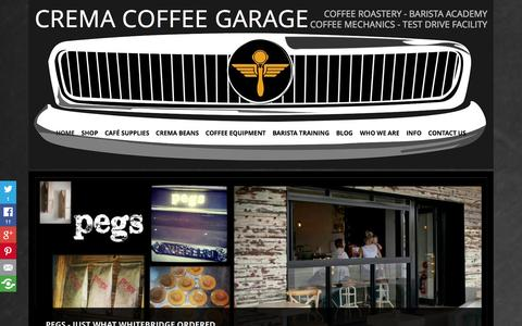 Screenshot of Home Page cremacoffeehouse.com.au - Coffee Beans & Coffee Machines | Crema Coffee House - captured Sept. 30, 2014