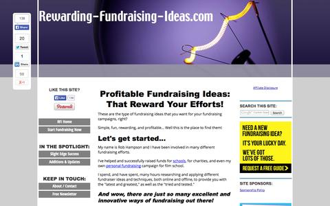 Screenshot of Home Page rewarding-fundraising-ideas.com - Rewarding Fundraising Ideas: The BEST Fundraisers & Tips - captured Sept. 19, 2014
